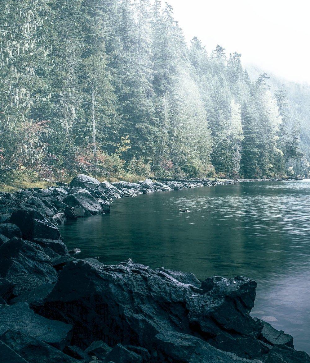 Cheakamus Lake in Whistler, BC