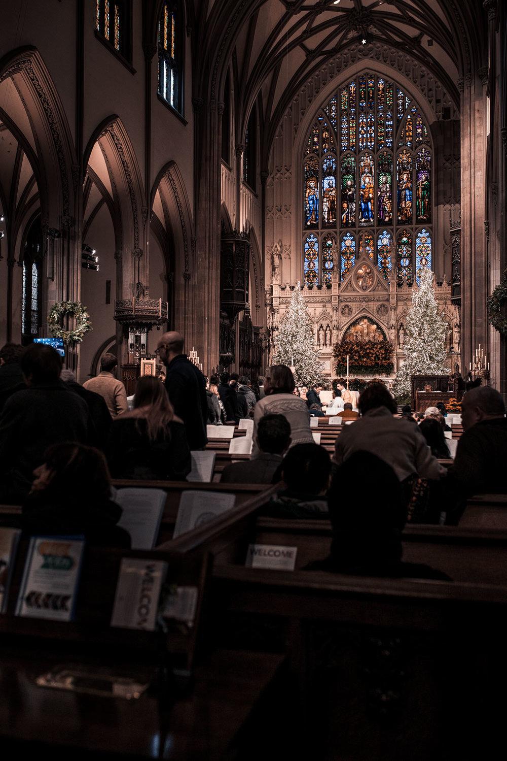 Sunday mass at Trinity Church