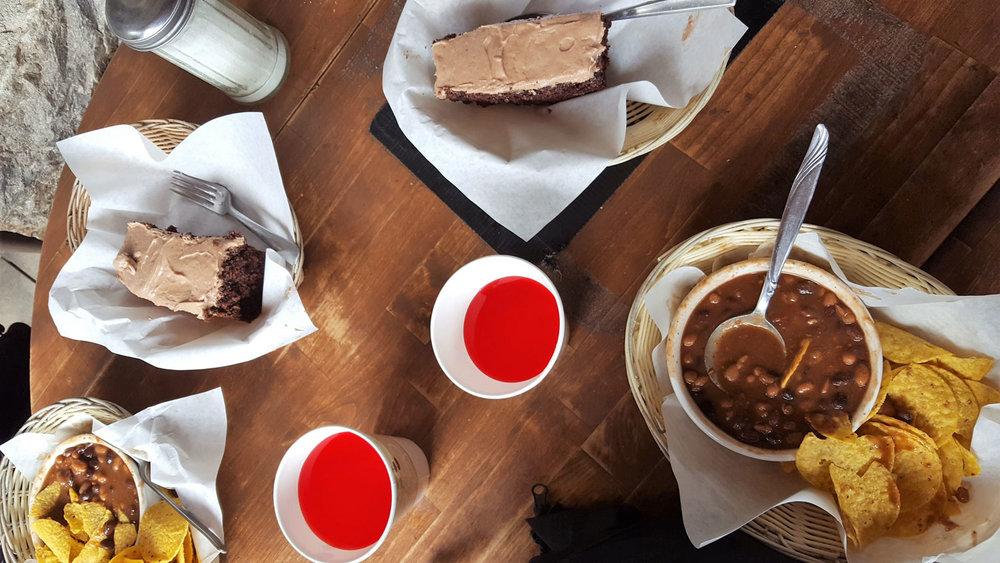 Our order at the Plain of Six Glaciers Teahouse