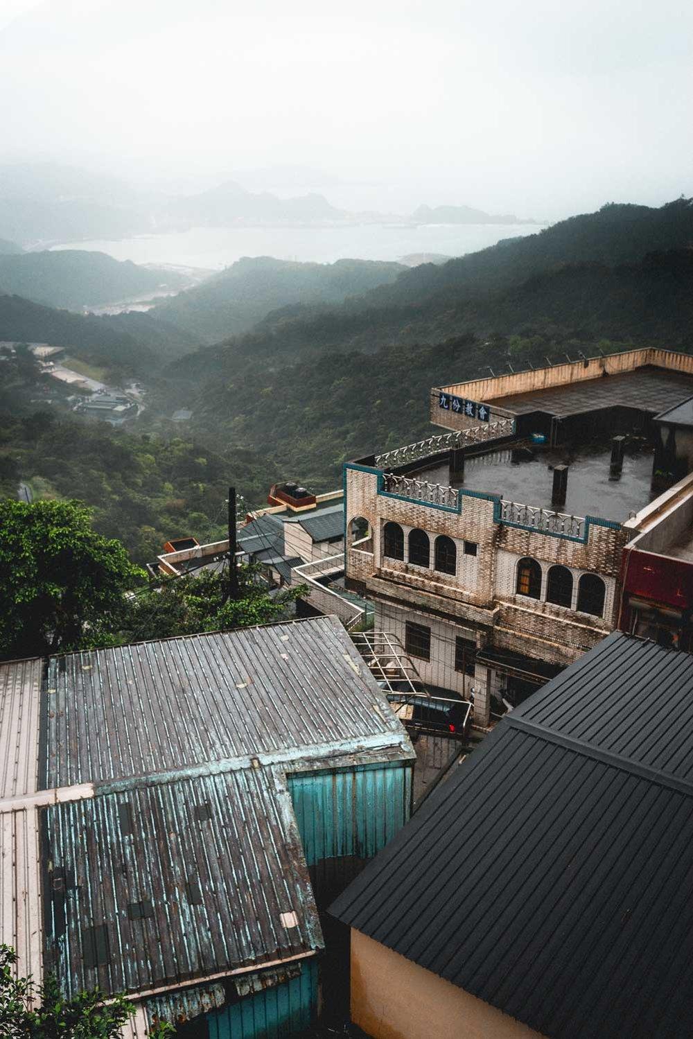 Rooftops overlooking Jiufen