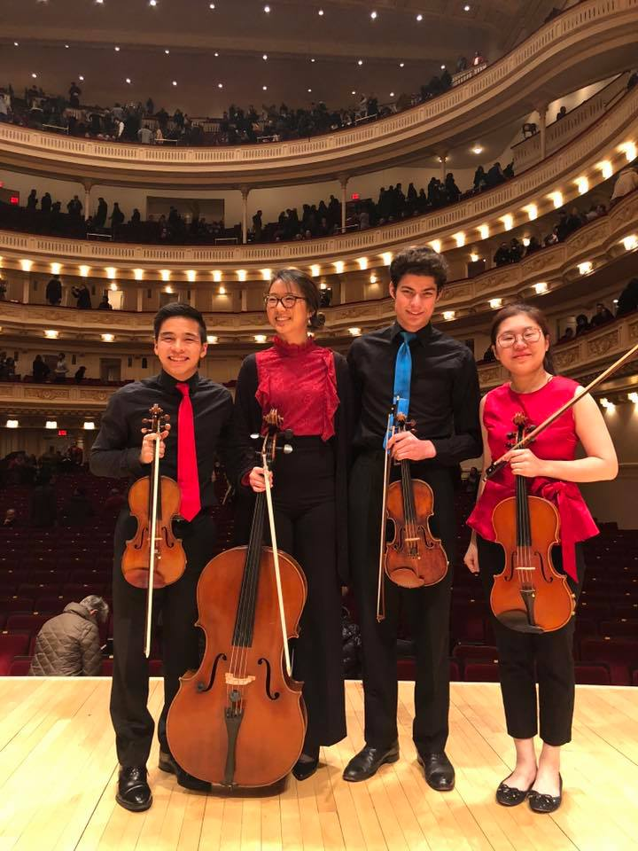 "Chamber Music - ANTON ARENSKYString Quartet No. 2, Op. 35 (zwei Violoncelli)BELA BARTOKString Quartet No. 1String Quartet No. 2String Quartet No. 4LUDWIG VAN BEETHOVENTriple Concerto, Op. 56 Piano Trio in G major, Op. 1, No. 2Piano Trio in B-flat major, Op. 97, No. 2, ""Archduke"" Piano Trio in D major, Op. 70, No. 1 ""Ghost"" String Quartet in F major, Op. 18, No. 1 String Quartet in G major, Op. 18, No. 2String Quartet in D major, Op. 18, No. 3 String Quartet in F major, Op. 59, No. 1 String Quartet in E minor, Op. 59, No. 2 String Quartet in C major, Op. 59, No. 3 String Quartet in F minor, Op. 95, ""Serioso"" String Quartet in B-flat major, Op. 130 String Quartet in A minor, Op. 132 String Quartet in B-flat major, Op. 133, ""Grosse Fuge""GIOVANI BOTTESINIGrand Duo ConcertanteJOHANNES BRAHMSString Quartet in C minor, Op. 51, No. 1 String Quartet in A minor, Op. 51, No. 2 Piano Quartet in G minor, Op. 25 Piano Quartet in C minor, Op. 51, No. 1 Piano Quintet in F minor, Op. 34 String Quintet, Op. 88, No. 1 String Quintet, Op. 111, No. 2 Clarinet Quintet in B minor, Op. 115 String Sextet in B-flat major, Op. 18 String Sextet in G major, Op. 36MAX BRUCHString Octet in B-flat major, Op. posthHANDEL-HALVORSENPassacagliaJOSEPH HAYDNString Quartet No. 53 in D major, Op. 64, No. 5, ""The Lark"" String Quartet No. 59 in G minor, Op. 74, No. 3, ""Rider"" String Quartet No. 61 in D minor, Op. 76, No. 2, ""Fifths"" String Quartet No. 63 in B-flat major, Op. 76, No. 4, ""Sunrise""Zoltan KodalySerenade, Op. 12FRANK MARTINString TrioFELIX MENDELSSOHNString Quartet No. 1 in E-flat major, Op. 12 String Quartet No. 2, in A minor, Op. 13String Quartet No. 3 in D major, Op. 44, No. 1String Quartet No. 4 in E minor, Op. 44, No. 2 String Quartet No. 6 in F minor, Op. 80String Quintet No. 1 in A minor, Op. 18 String Octet, Op. 20OLIVIER MESSIAENQuatuor pour la fin du tempsMORITZ MOSZKOWSKISuite for Two Violins, Op. 71WOLFGANG AMADEUS MOZARTSinfonia Concertante, K364 String Quartet No. 17, ""The Hunt"" St"