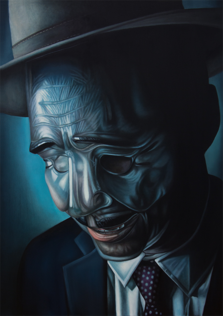 "DESPERADO. 46"" x 65"". Oil on Linen. 2014"