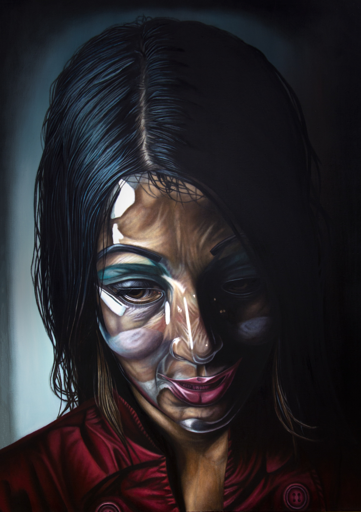 """VACANT. 46"""" x 65"""". Oil on Linen. 2014"""