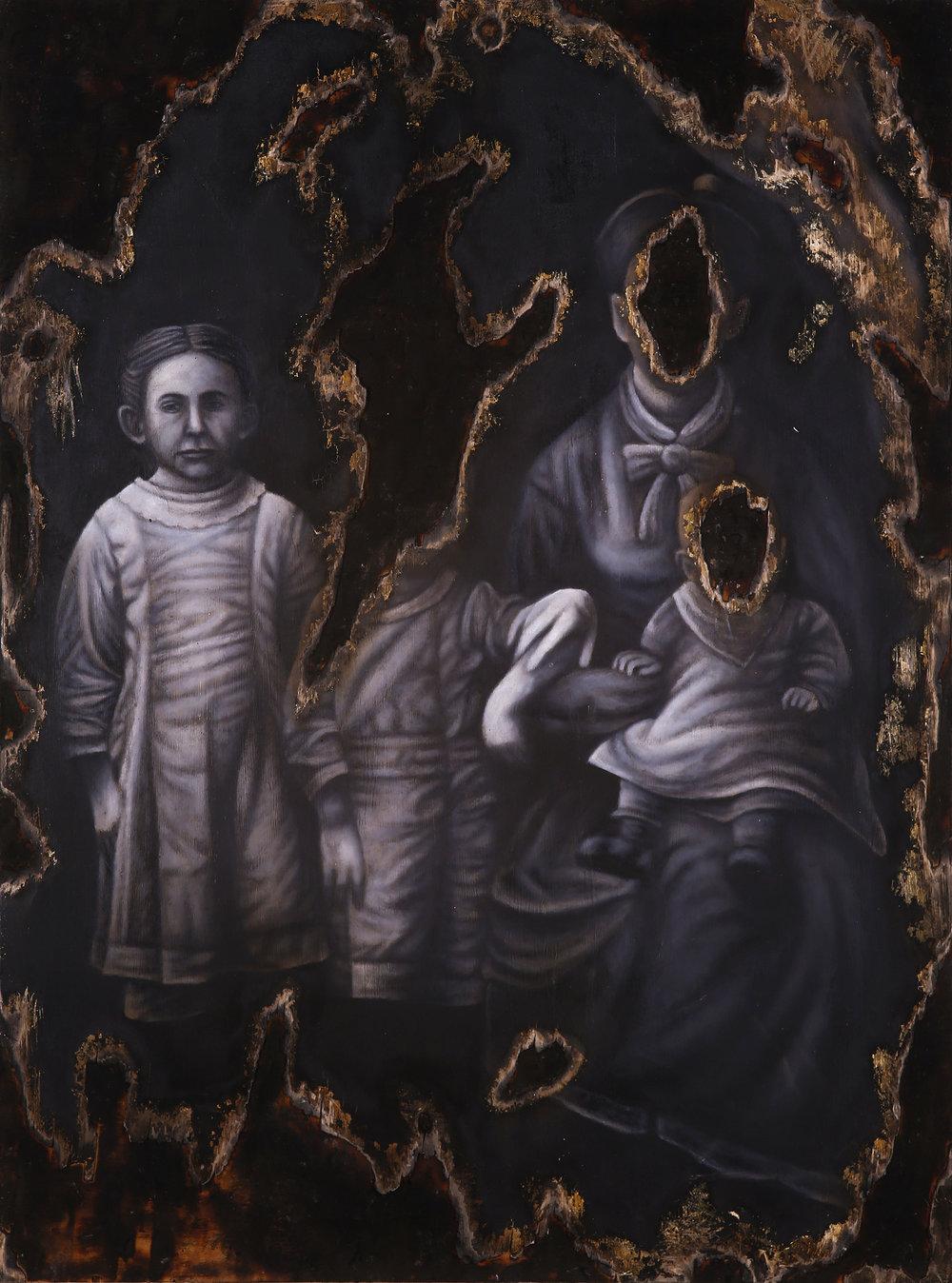 """30"""" x 40"""". Oil on Wood Panel. 2014"""