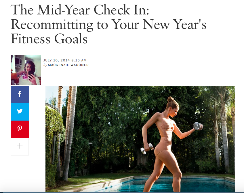Vogue, Fitness Goals, 2014
