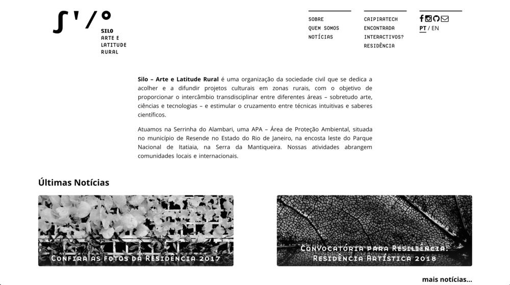 http://silo.org.br  Site em parceria com Thiago Hersan