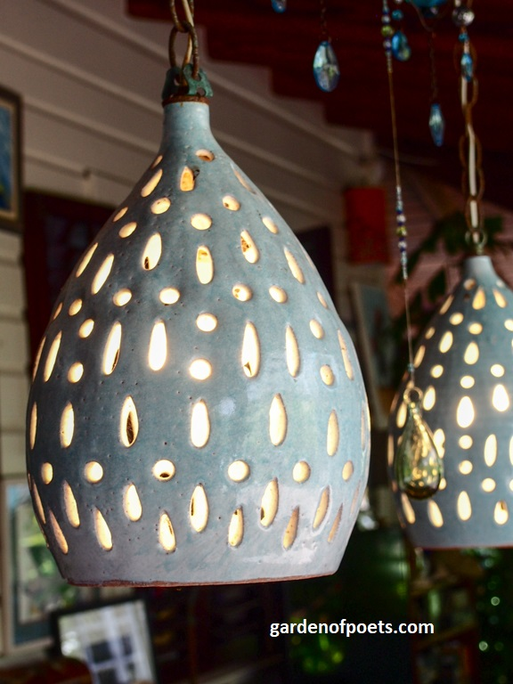 Light detail,  Sarah Fuller Pottery , Antigua. Photo by Jennifer Ritchie.