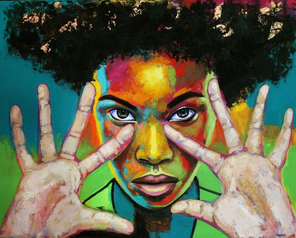 """Freedom"" by artist Naydene Gonnella in Antigua."