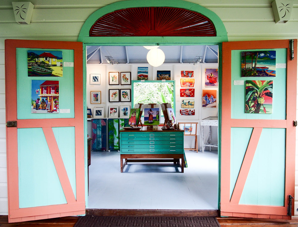 Fig Tree Studio Art Gellery, situated on Fig Tree Drive (Old Road), Antigua, West Indies. Photo by Jennie Ritchie.