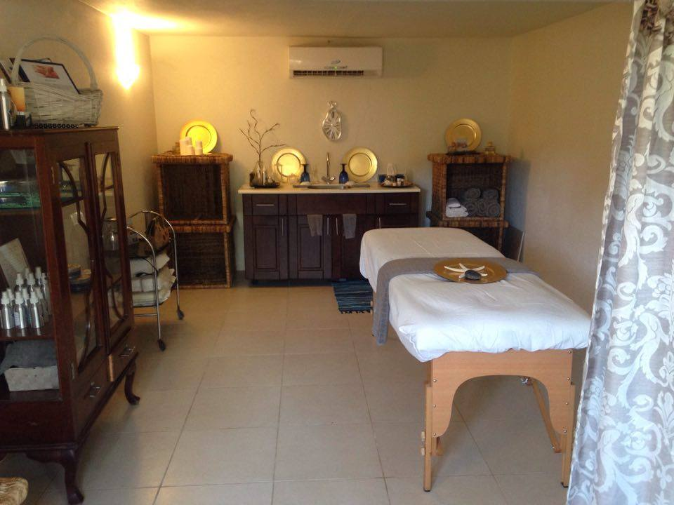 The Powder Room Spa in Antigua owned and operated by Mary Wilkinson of Elements Antigua.