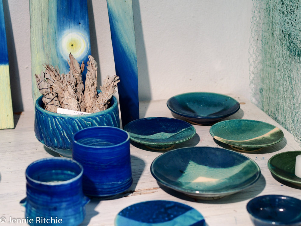 Ceramics by Nancy Nicholson. Photo by Jennie Ritchie.