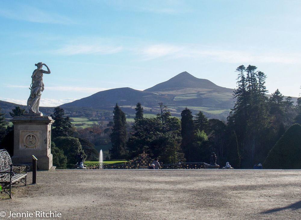 View of the Sugar Loaf from Powerscourt House