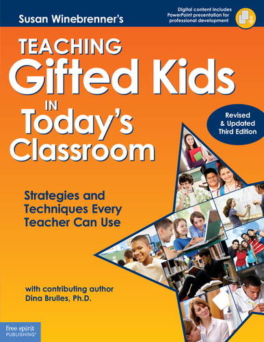 "This is the definitive guide to meeting the learning needs of gifted students in the mixed-abilities classroom—seamlessly and effectively with minimal preparation time. Included are practical, classroom-tested strategies and step-by-step instructions for how to use them. The third edition of this ""orange bible"" provides information on:  • using technology for accelerated learning • managing cluster grouping • increasing curriculum rigor • improving assessments • boosting critical and creative thinking skills • addressing gifted kids with special needs • supporting Common Core State Standards  Digital content provides a PowerPoint presentation for professional development, reproducible forms ready to customize and print for classroom use, additional extension menus for the primary and upper grades, and a special supplement for parents."