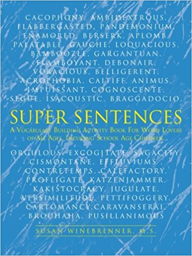This book has been in constant press since 1990 and has brought much pleasure to avid readers and writers of all ages. There are 11 sentences in Level One, which challenge gifted students in grades k-4 and regular education students in the upper grades. The eleven Level Two sentences challenge students in grades 5-12, and require access to an unabridged dictionary with word origins included. The sentences also provide hours of family fun! You will especially appreciate the Answer Keys at the back of the book