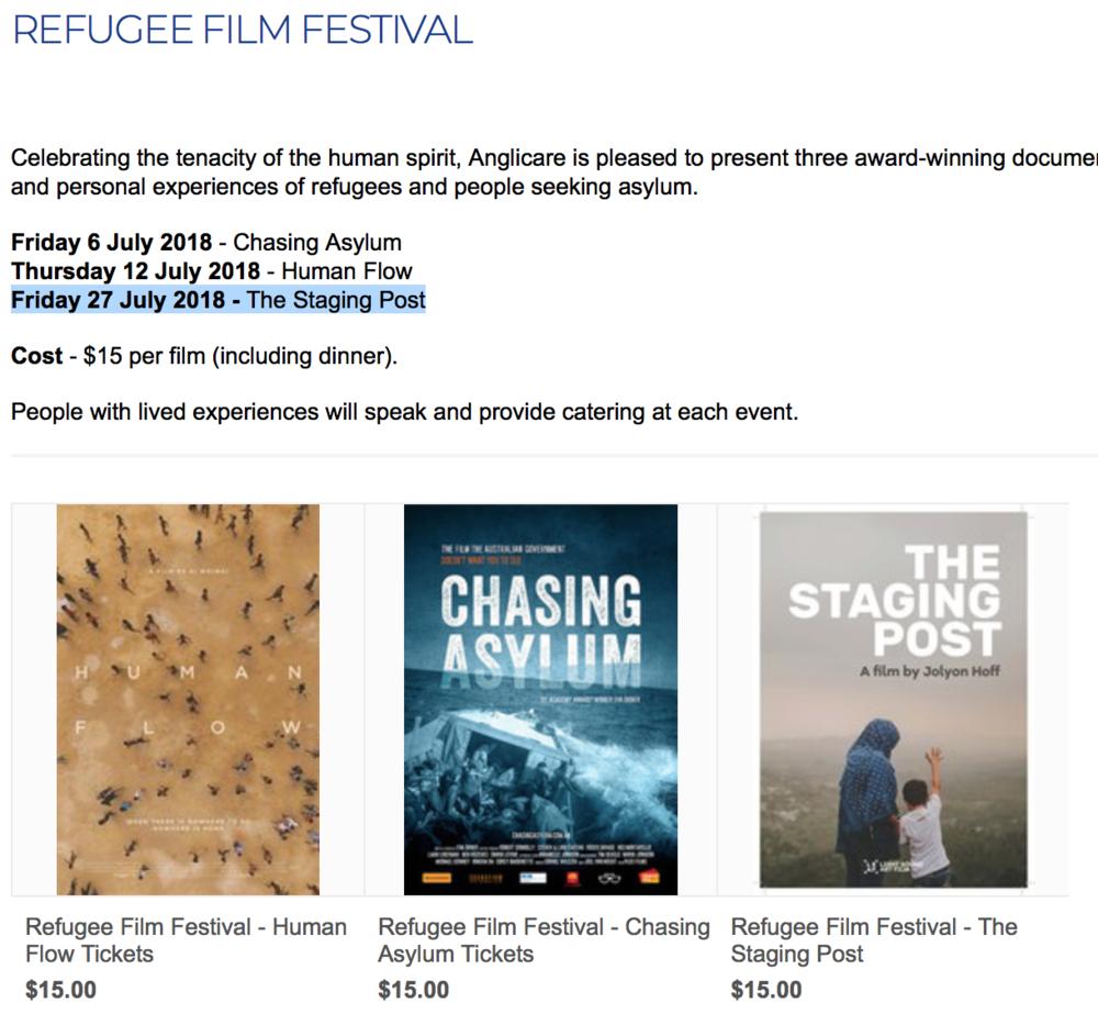 Anglicare Refugee Film Festival