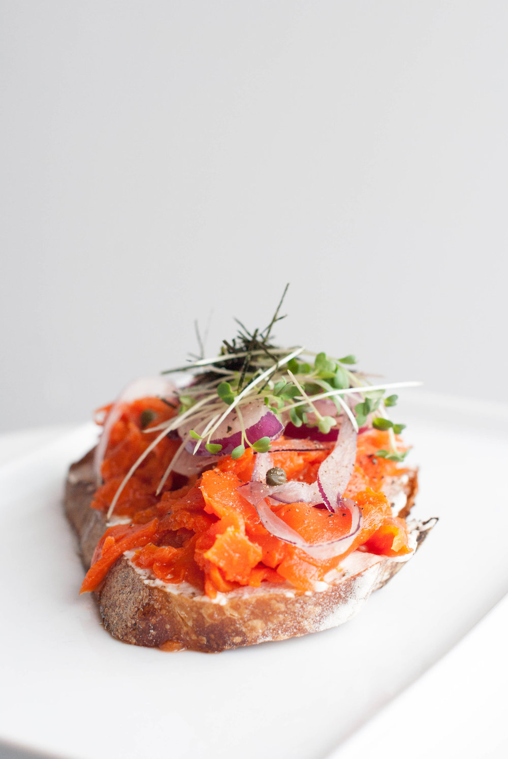 carrot lox on a local bakery's bread (bread not gluten-free, but naturally leavened )
