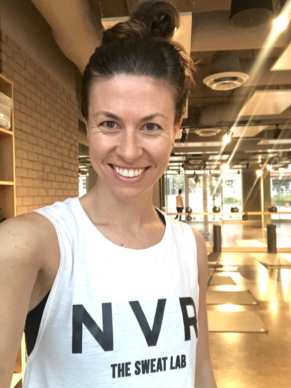 moving my body and sweating at The Sweat Lab, on classpass too!