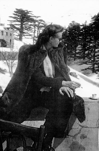 Colette de Beaumont (Mamie), Les Cèdres, Lebanon –  c.  1950