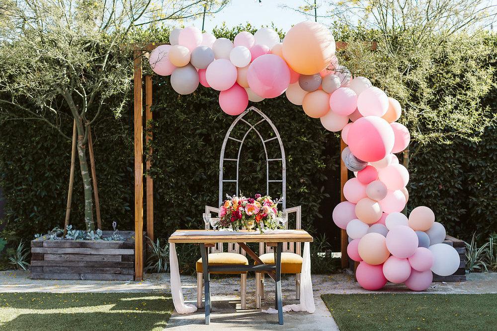 whimsical and fun sweetheart table