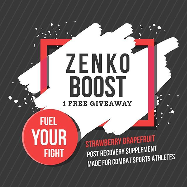 """FREE Zenko:Boost Giveaway! Rules for the contest: 1. Follow @zenkonutrition on Instagram 2. Tag 2 friends in the comments below 3. Contest ends in 1 week - winner will be chosen at random! US only! """"Zenko: Boost has what combat athletes and athletes of all disciplines need to recover after intense physical activity. Boost cognition and mental alertness with ALCAR and Choline, a neurotransmitter also needed for muscle contraction. Promote cellular hydration and resilience to stressors created by exercise while also improving power output, endurance and muscle protein synthesis with TMG. Reduce muscle soreness and fatigue using the potent antioxidant and anti-inflammatory, MSM. For extra inflammation reduction, Boost is topped off with Acai berry extract and its powerful antioxidants. Each jar contains 30 servings."""""""