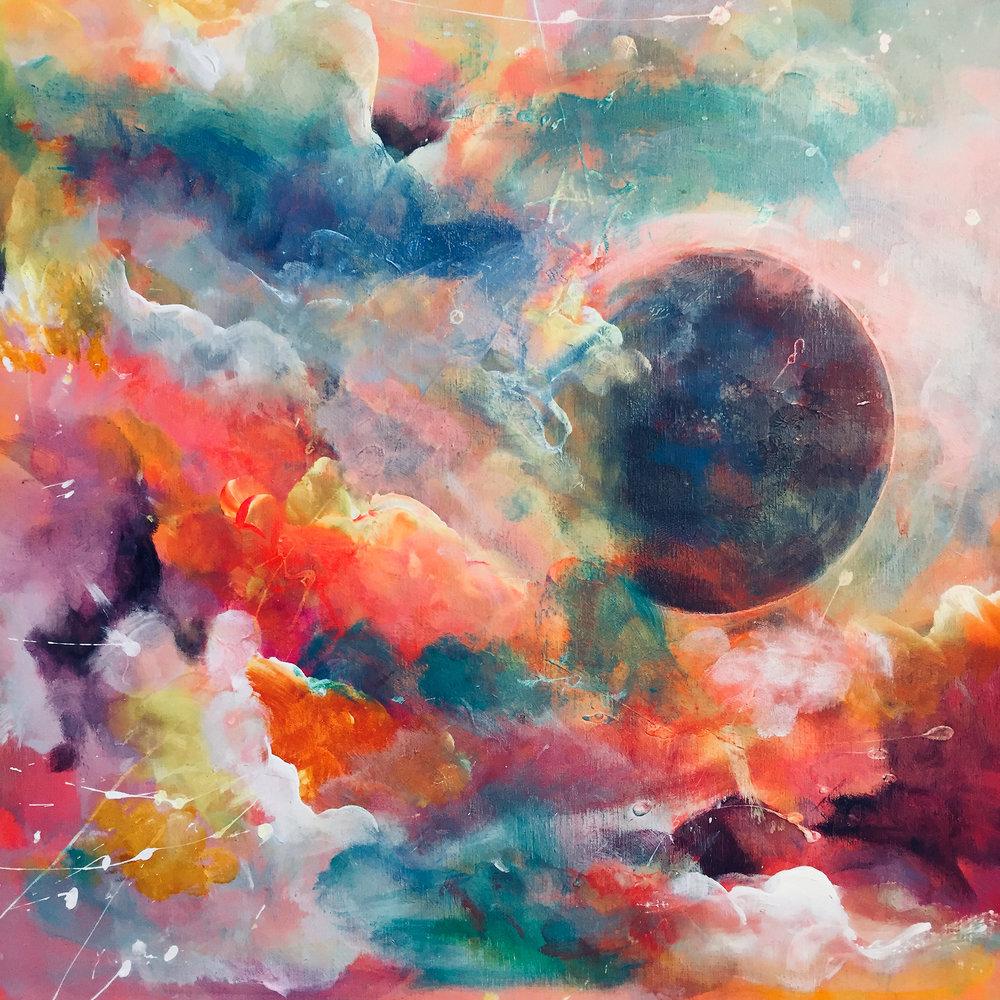 black holes & colour full ones - 25 x 25 cm