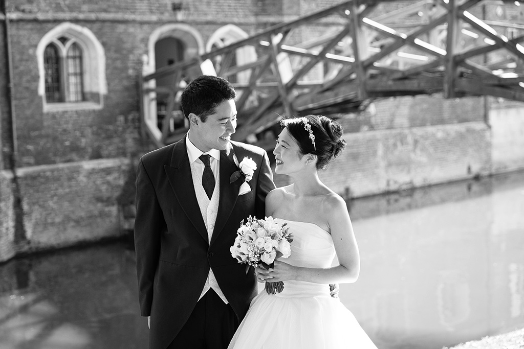Queen's College Cambridge, Wedding, Beautiful, mathematical bridge, Wedding Photographer Cambridge