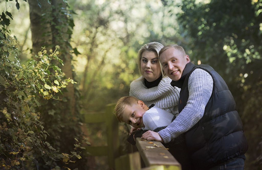 Mystical, family portraits, Cambridge, Woods