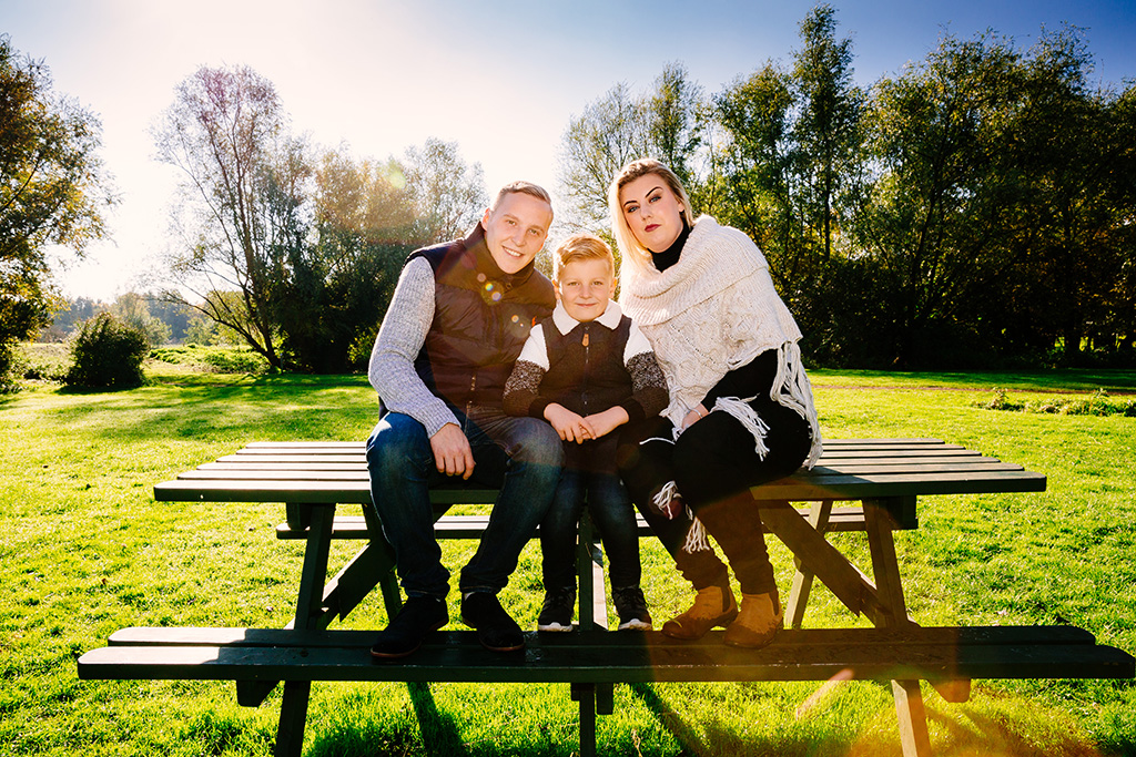 Family portraits, Cambridge, Autumn, lens flare