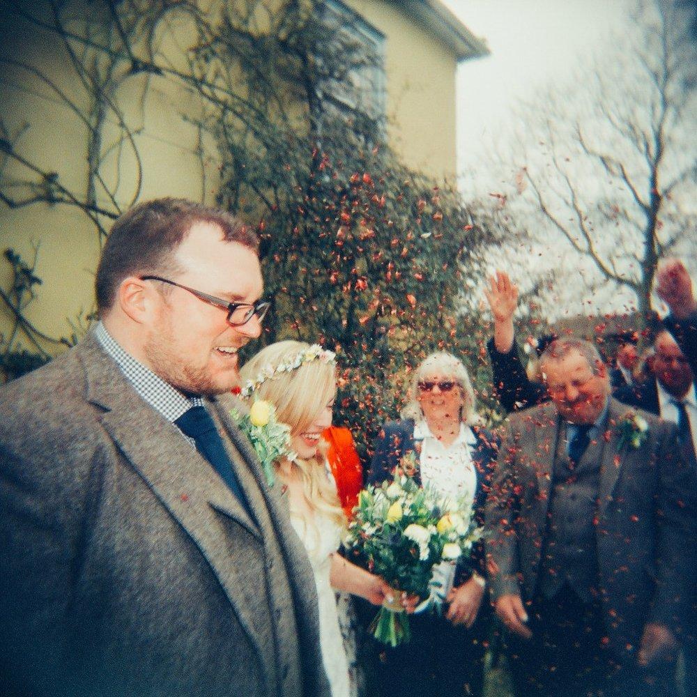 Holga 120N film wedding photo