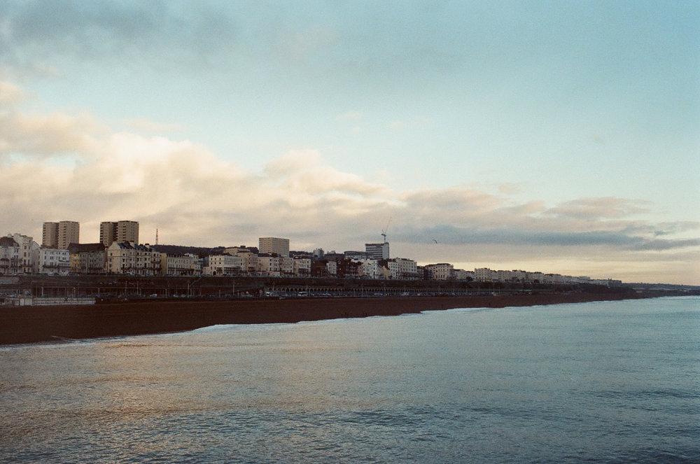 Brighton coastline canon A-1 35mm