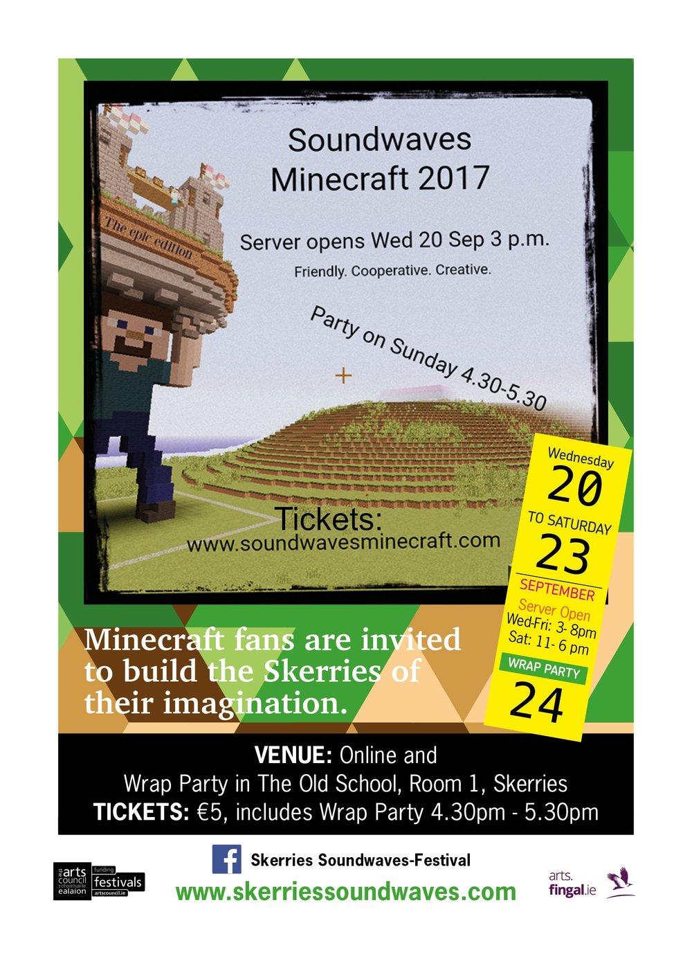 SoundWaves Minecraft 2017 poster