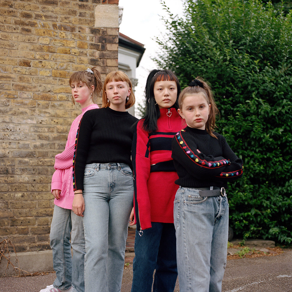 Molly, Ruby, Morgan and Betsy. Walthamstow, 2017.