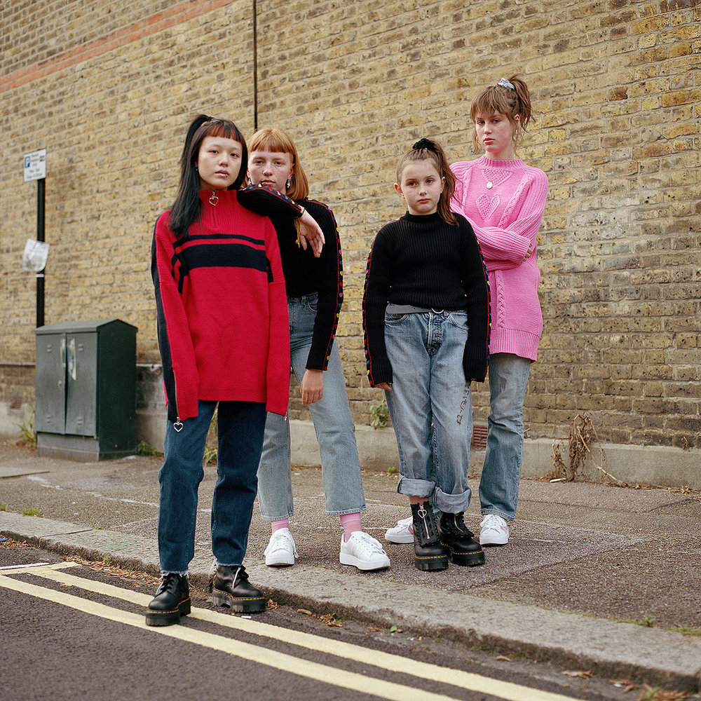 Morgan, Ruby, Betsy and Molly. Walthamstow, 2017.