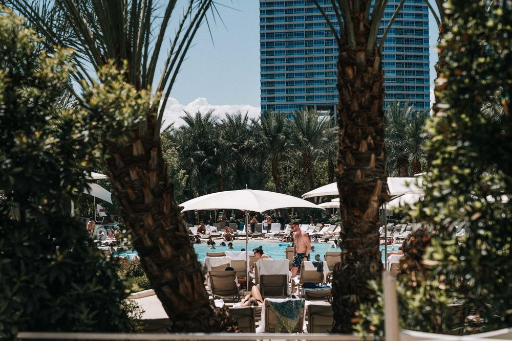 Poolside at the Aria Hotel and Casino