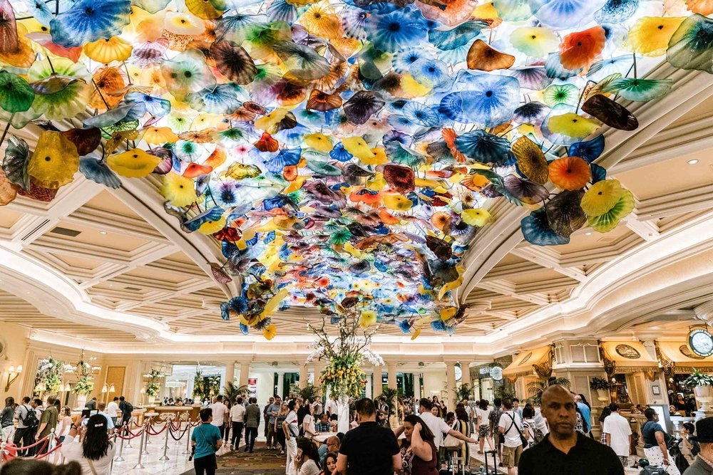 Venetian glass installation in the Bellagio - iconic!