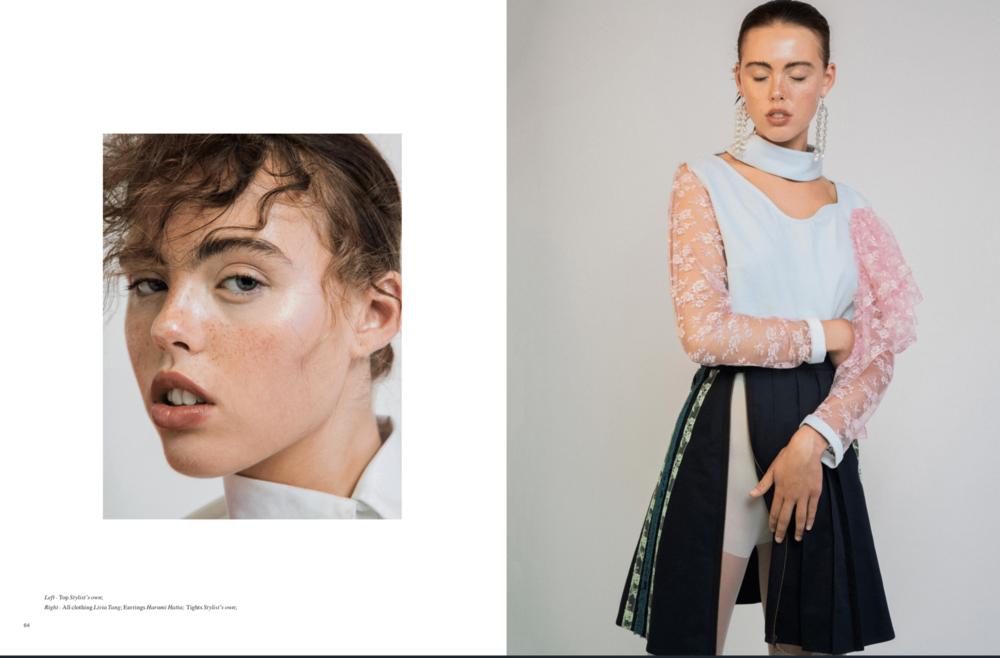 #AW18  cotton velvet blouse & cotton twill skirt in  @flanellemagazine