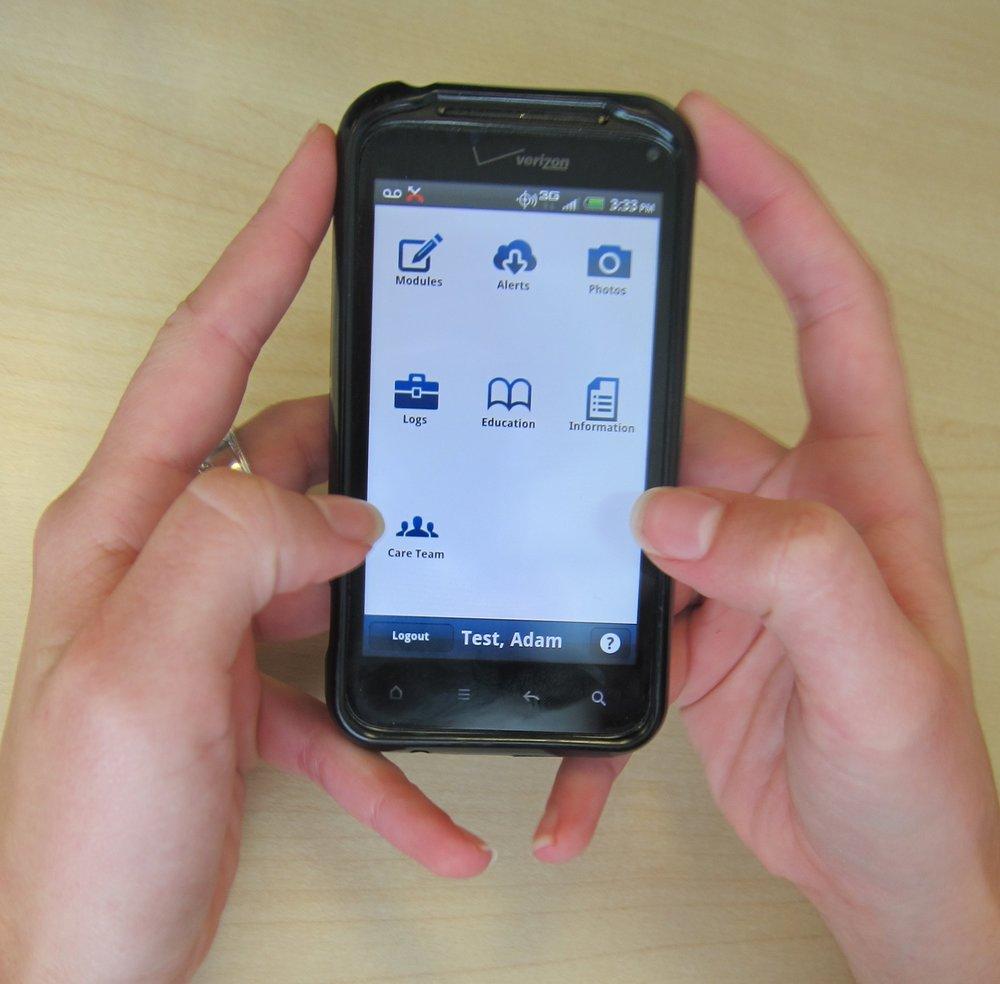 Prototype app used in 30 patient pilot