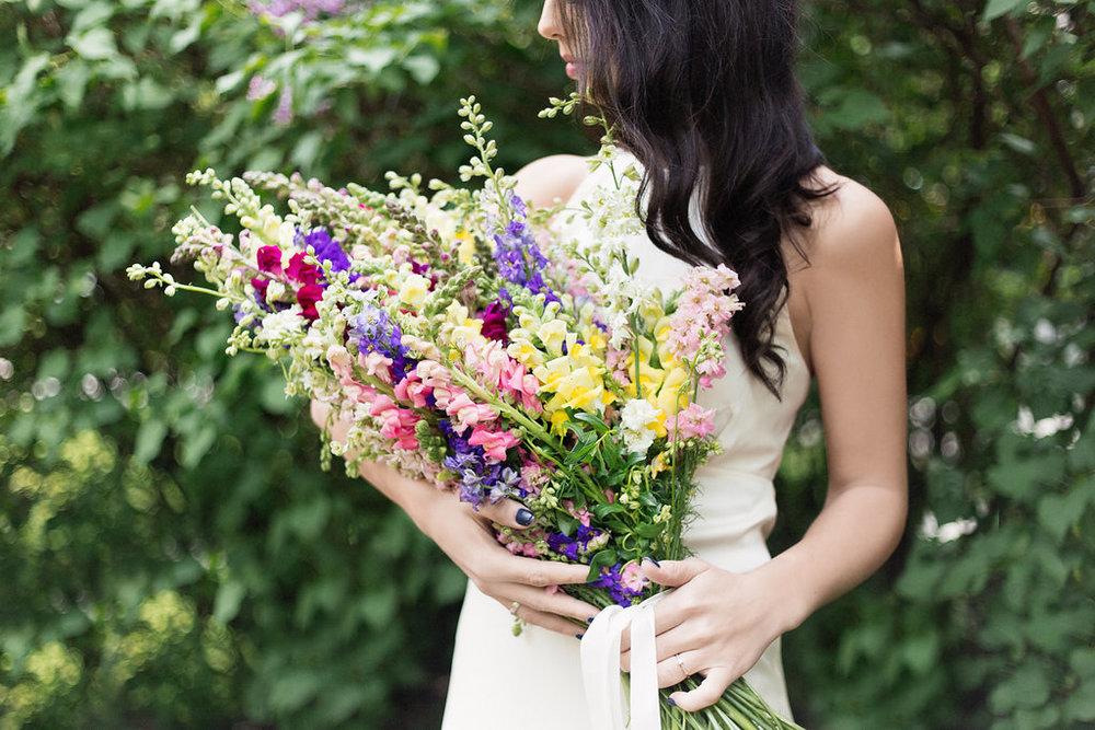 Colour explosion bridal bouquet