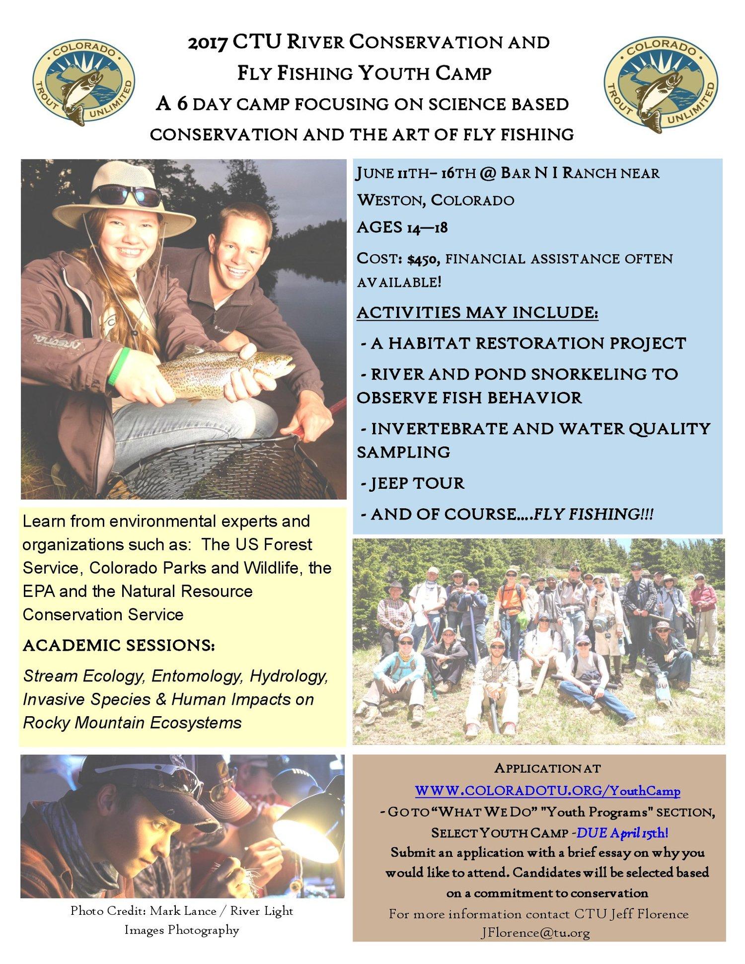 2017 Colorado TU Youth Camp — Ferdinand Hayden Chapter of