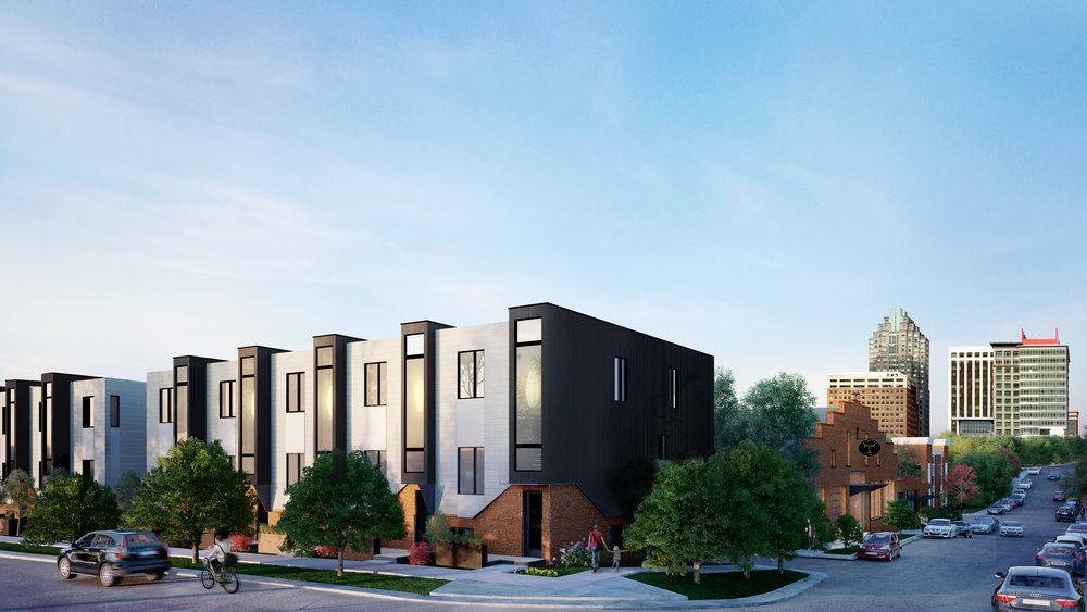 Townhomes in Downtown Raleigh NC