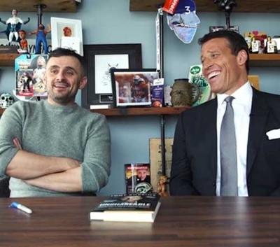 These 2!... Gary Vaynerchuk (left) Tony Robbins (right)