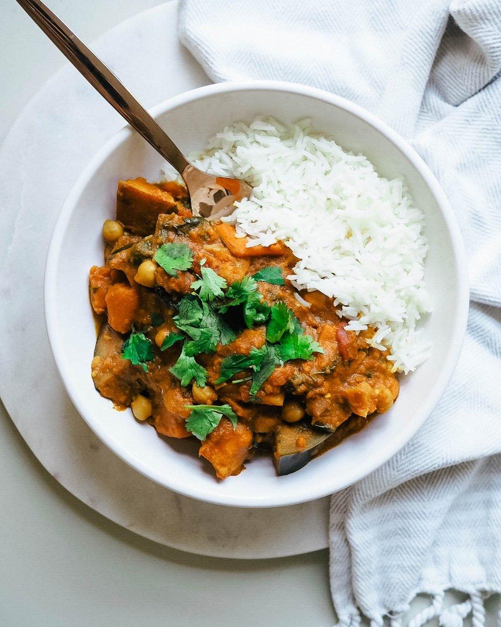 Sweet Potato + Chickpea Stew // Kris Gill