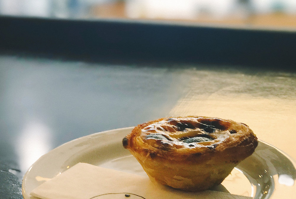 Pastel de nata - (Not from Manteigaria, because I obviously ate that one faster than shutter speed. Priorities, you know.)