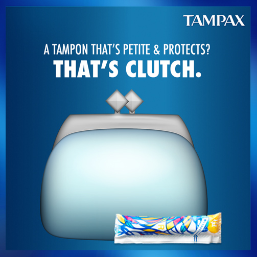 Do girls' night right 👯 with your super cute clutch and equally awesome Tampax Pocket Pearl.  #PowerOverPeriods