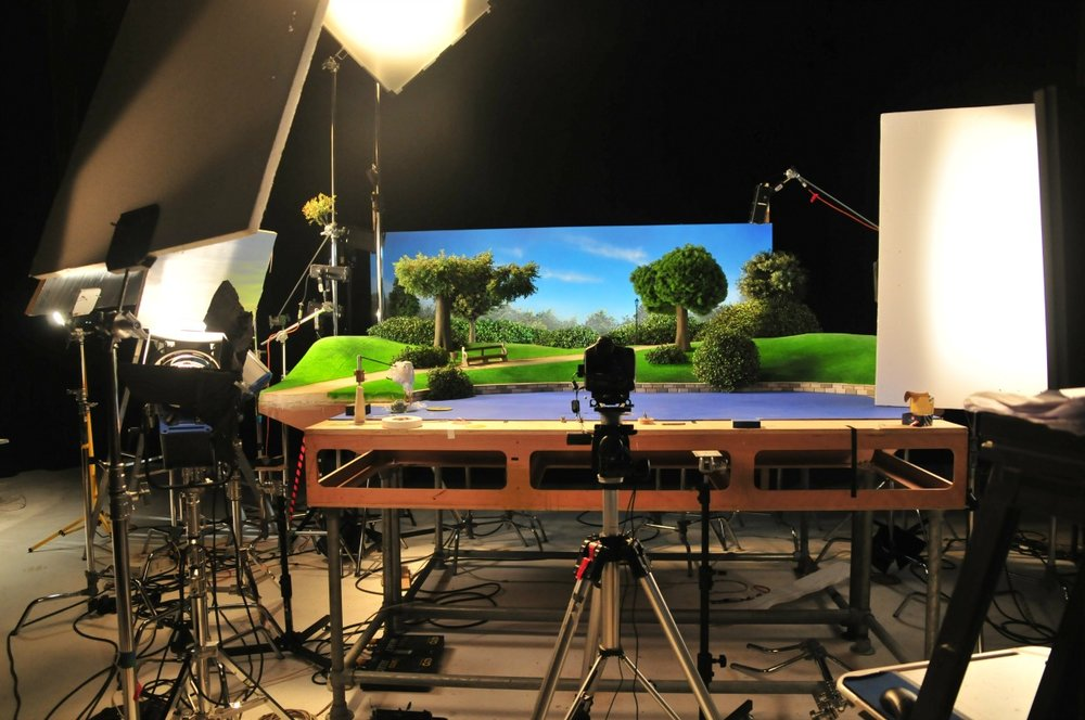 ANIMATION SET FOR AARDMAN ANIMATIONS . Click on image for more.