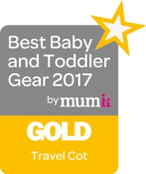Gold Travel Cot