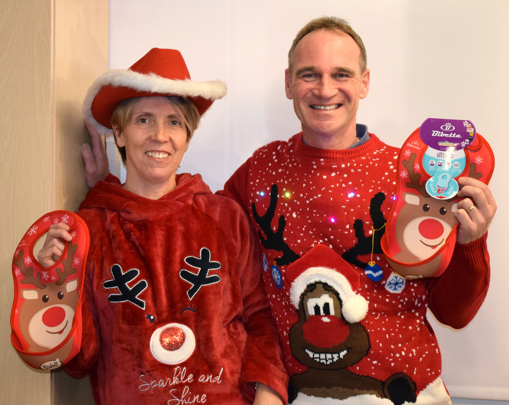 The Bibetta Team looking fabulous with their Rudolph UltraBibs!