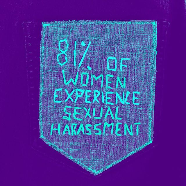 "'81% of women experience sexual harassment."" #stopstreetharassment . . . #30daysofsaam . .  @nsvrc @rainn . #30daysofsaam  #sexualviolenceawareness #nsvrc @nsvrc @rainn #rainn #talkingtushies #sexualassault #raiseawareness #emmaduehr #pdx #psu #psuart #iowa #socialengagement #sharestories #believesurvivors #survivor #women #feminism #female #futureisfemale #activism #contemporaryart #craftism"