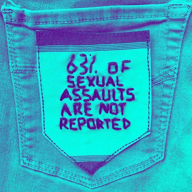 '63% of sexual assaults are not reported'   @rainn . . .  30daysofsaam . .  @nsvrc @rainn . #30daysofsaam  #sexualviolenceawareness #nsvrc @nsvrc @rainn #rainn #talkingtushies #sexualassault #raiseawareness #emmaduehr #pdx #psu #psuart #iowa #socialengagement #sharestories #believesurvivors #survivor #women #feminism #female #futureisfemale #activism #contemporaryart #craftism