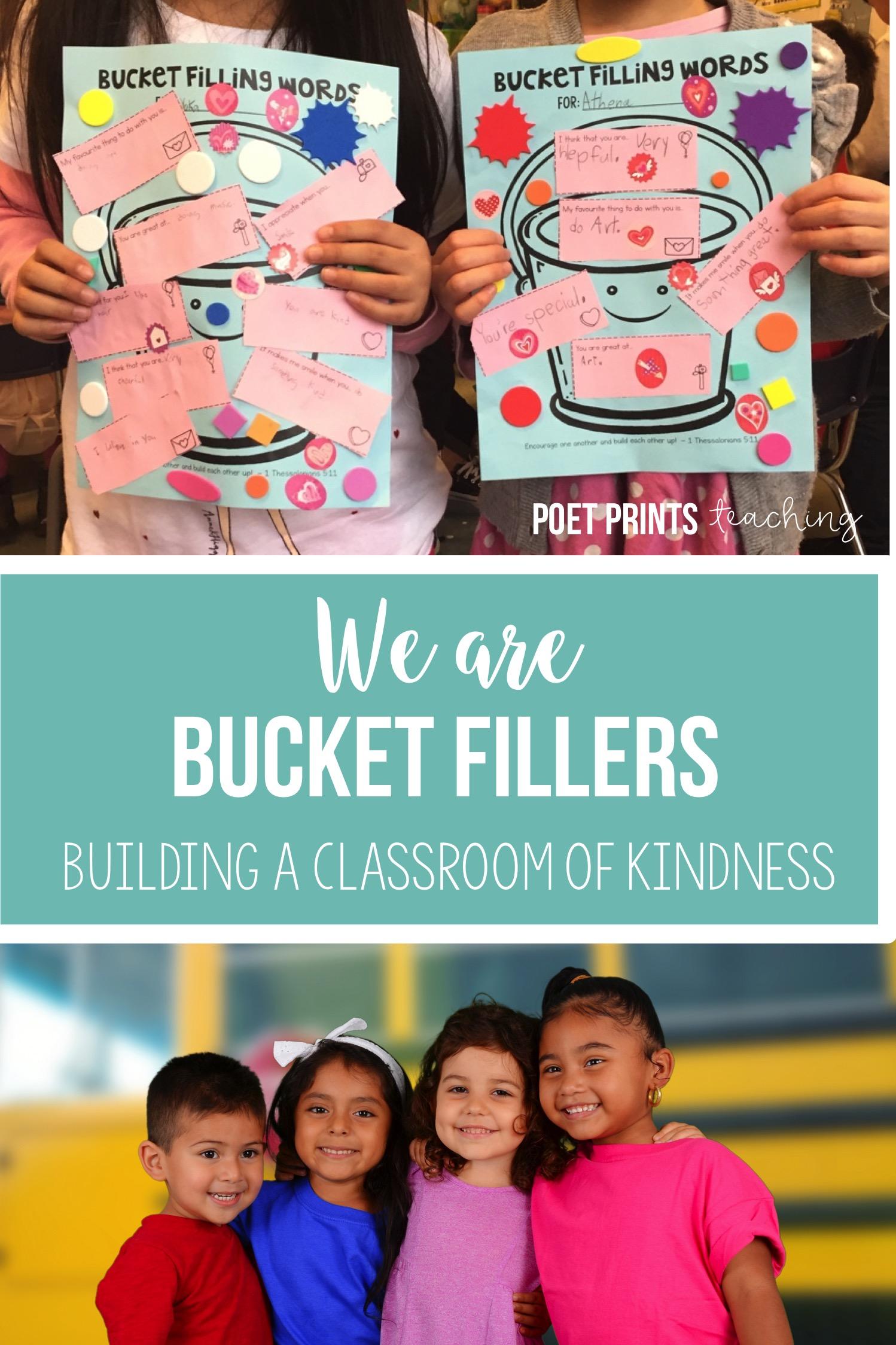 We Are Bucket Fillers Poet Prints Teaching